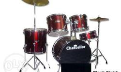 Red And Black Chancellor Drum Set