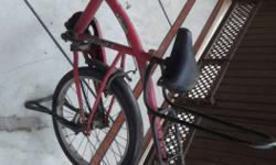 Red And Black City Bicycle
