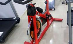 Red And Black Spin Bike Trainer