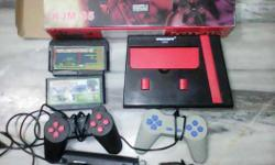 Red And Black Victor Console, Controller And Game Lot