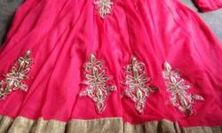 Red And Brown Anarkali