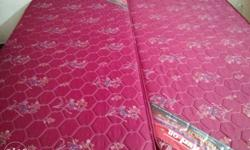 Red And Brown Floral Quilted Mattress