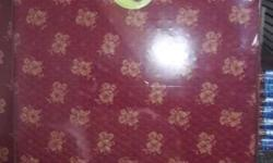 Red And Brown Royal Floral Printed Bed Mattress