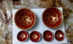 Red And Gold Ceramic Bowl