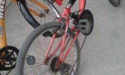 Red And Silver Hercules Full-suspension Bicycle