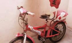 Red And White Bicycle With Canopy