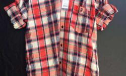 Red And White Plaid Polo