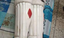Red And White Batting pads in very good quality