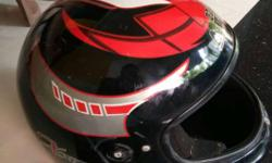 Red, Black, And Gray Full Face Helmet contact