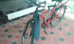 Red Commuter's Bicycle