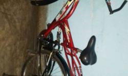 Red Full Suspension Bicycle