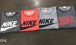 Red,grey,and Black Nike Crewneck Shirts Set Of 4.