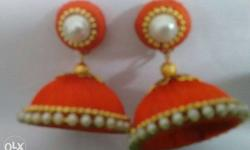 Red Jhumkas Earrings