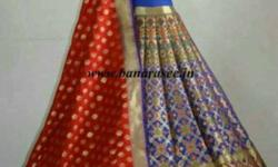 Red, Purple, And Brown Saree