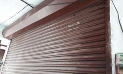 Red Steel Shutter Gate