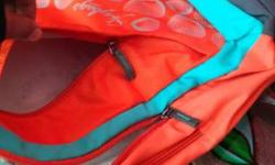 Red, Teal And Grey Backpack
