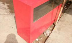 Red Wooden Console Table
