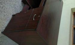 Red Wooden Office Desk Table