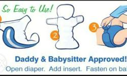 Reusable cloth baby diapers. At cheapest direct import