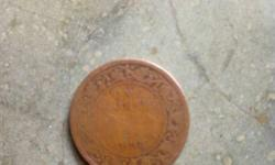 Round Brown Indian Anna Coin