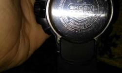 Round Casio G-Shock Watch With Black Sports Band