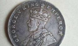 Round Silver George King Emperor Coin