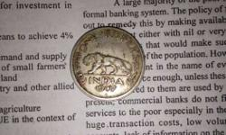 Round Silver Indian 1947 Coin