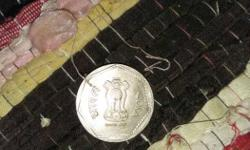 Round Silver Indian Coin