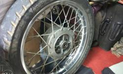 Royal Enfield classic 350,wheels with tyres,