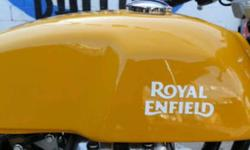 Royal enfield continental GT yellow colour tank with