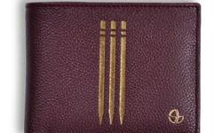 Sachin Tendulkar burgundy leather wicket wallets
