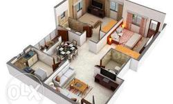 2 BHK with fully vastu compliant east facing, 1210 sqft