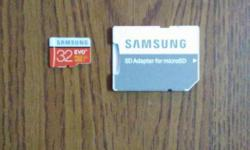 samsung class 10+ 32GB with adapter