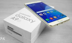 Samsung galaxy A9pro gold.single hand used mobile. Full