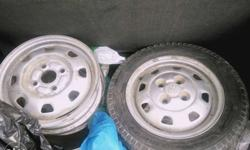 Santro car rims original steel with cup and two MRF