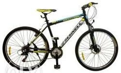 MTB.21 geared.Blue,yellow and black coloured.Front