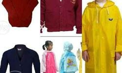 School Sweaters & Rain Cots With Home Delivery Service