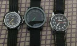 selling 3 different brand analog watches . prices are
