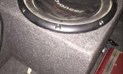 Selling my used one pioneer woofer and v12 amplifier