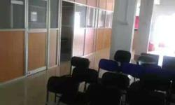 semi furnished office chambers with common waiting,