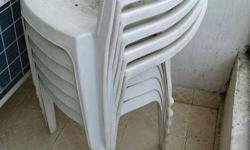 set of six plastic chairs of neelkamal brand.colour