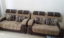 Seven seater sofa with table