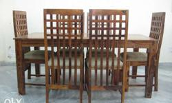 Sheesham wood Dining Table along with 6 Chair in Very