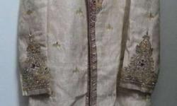 Sherwani with stole & pagdi