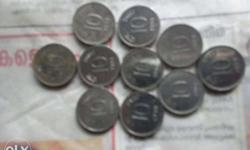 Silver 10 Indian paise Coin