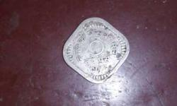 Silver 5 Indian Paise Coin