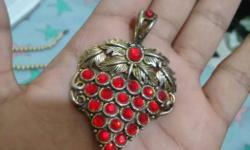 Silver And Red Gem Stones Jewelry