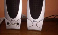 Silver LG Computer Speakers