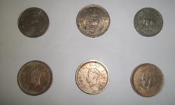 very old siver coins.