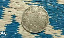 Silver One Rupee Coin